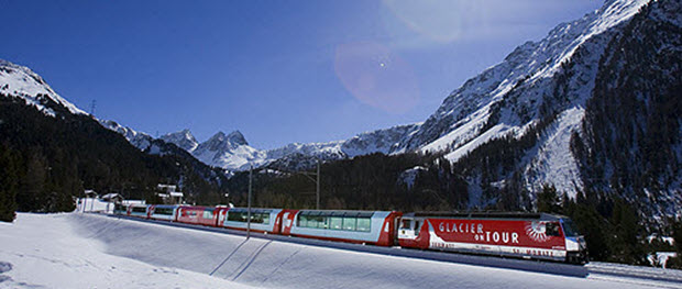 Glacier express in the Albula Valley