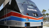 Amtrak's #66 in Phase III heritage colors. National Train Day, Los Angeles Union Station