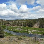 The Deschutes River from a bridge on Oregon Route 126 just north of Cline Falls State Scenic Viewpoint and a few miles west of Redmond, Deschutes County, Oregon by Jsayre64 (Own work), via Wikimedia Commons