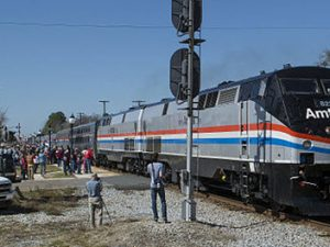 Amtrak's Sunset Limited Return to Service Special arrives in Chipley, Florida, on February 19, 2016 by Gracebeliever077 from Wikimedia Commons