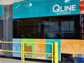 QLine streetcar in the maintenance facility in May 2017, eleven days before the opening of the line by A Healthier Michigan (QLine Detroit) via Wikimedia Commons